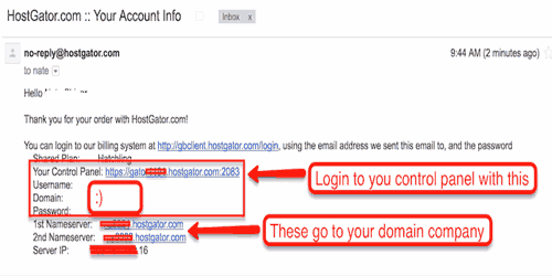 Hostgator payment email