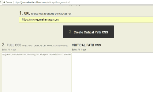 Critical path css generator example