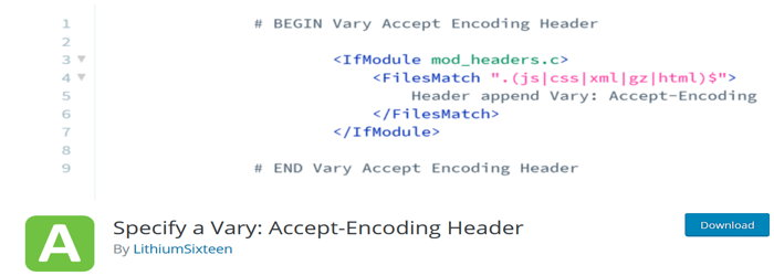 Specify a Vary Accept-Encoding Header