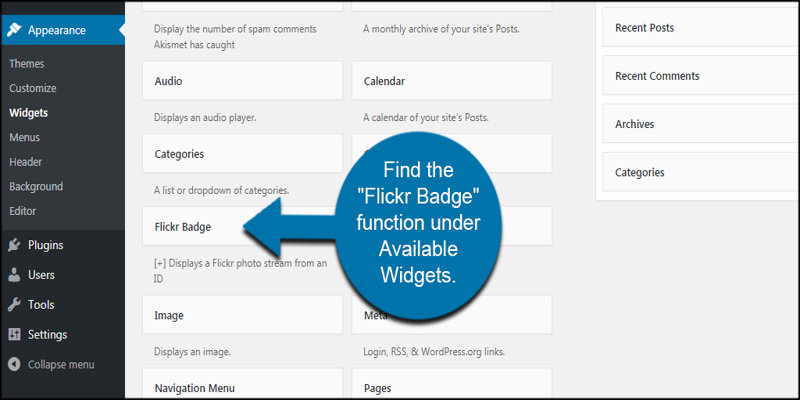 Flickr Badge Widget