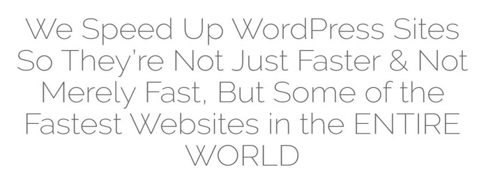 We Speed Up WordPress Sites So They're Not Just Faster & Not Merely Fast, But Some of the Fastest Websites in the ENTIRE WORLD