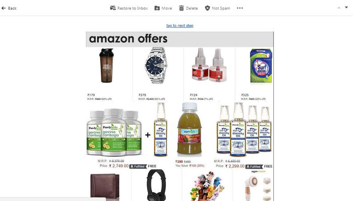 amazon email example as promotion
