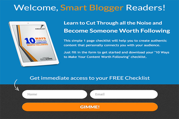 Welcome Smart-Blogger Readers exit intent popups