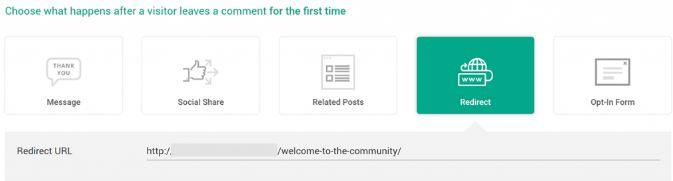 Redirect the visitor when they comment on the post