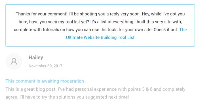 promote affiliate link with thrive comment plugin