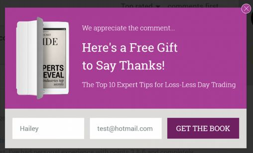 thanks for commenting lead generation example