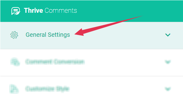 thrive comment plugin general setting