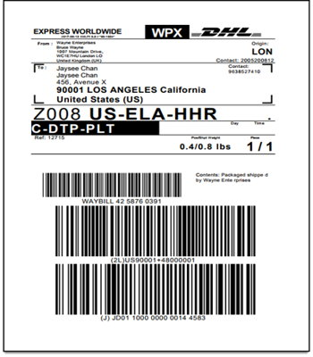 WooCommerce DHL Express Shipping Label